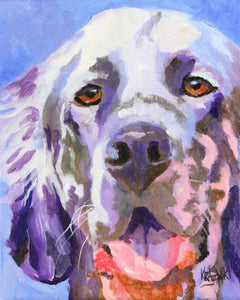 English Setter Art Print - Ron Krajewski Art
