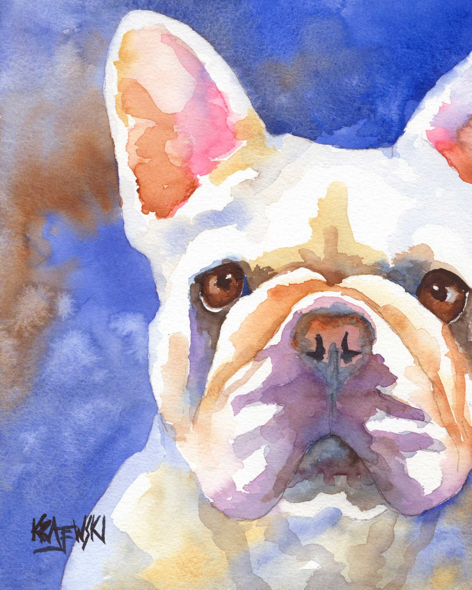 French Bulldog Art Print - Ron Krajewski Art