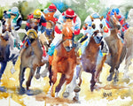 Horse Racing Art Print - Ron Krajewski Art