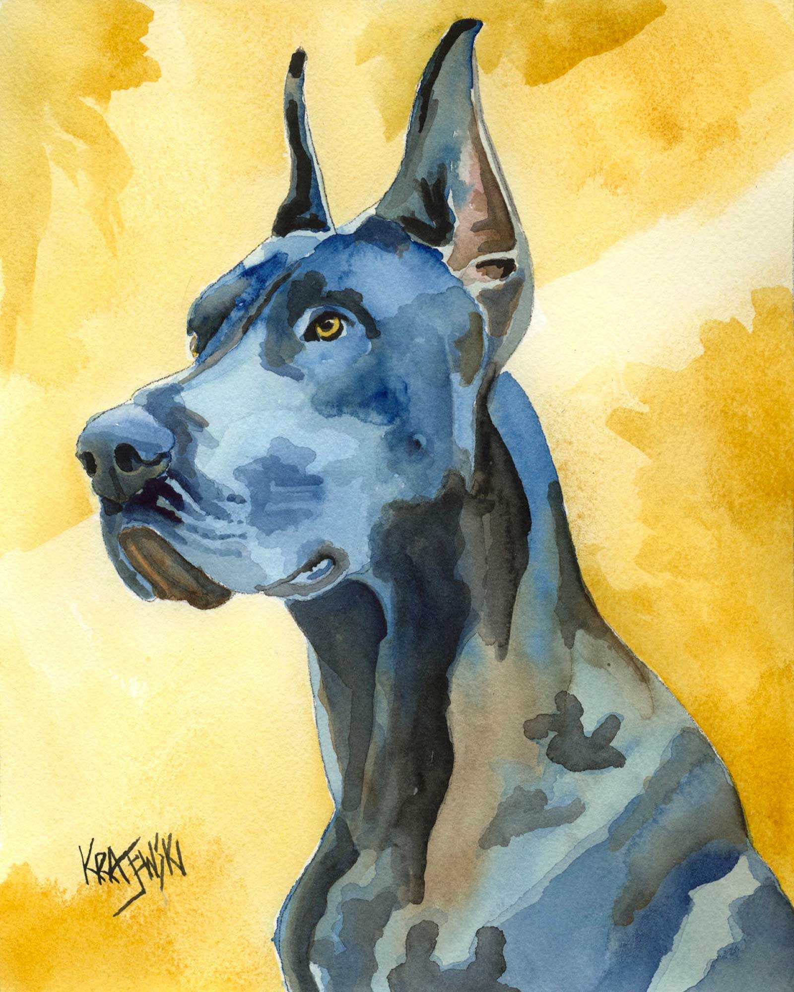 Great Dane Art Print - Ron Krajewski Art