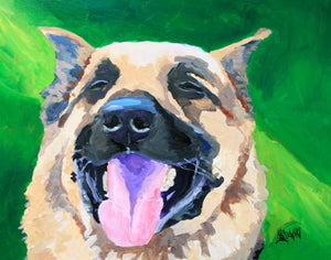 German Shepherd Art Print - Ron Krajewski Art