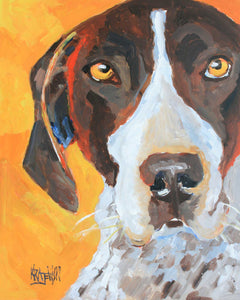 German Shorthaired Pointer Art Print - Ron Krajewski Art