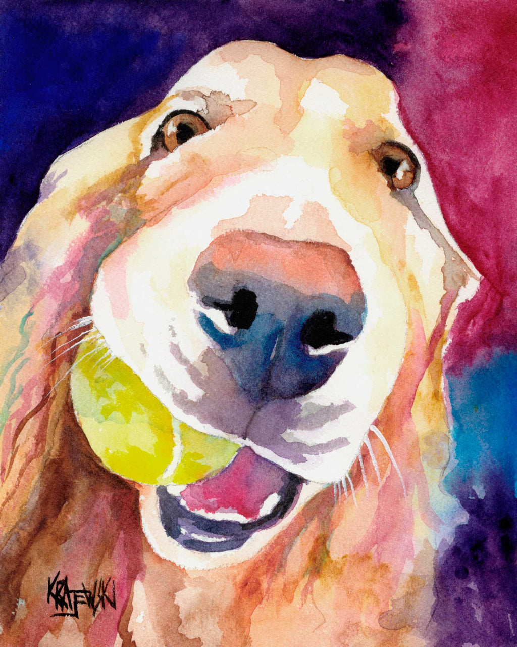 Golden Retriever Art Print - Ron Krajewski Art