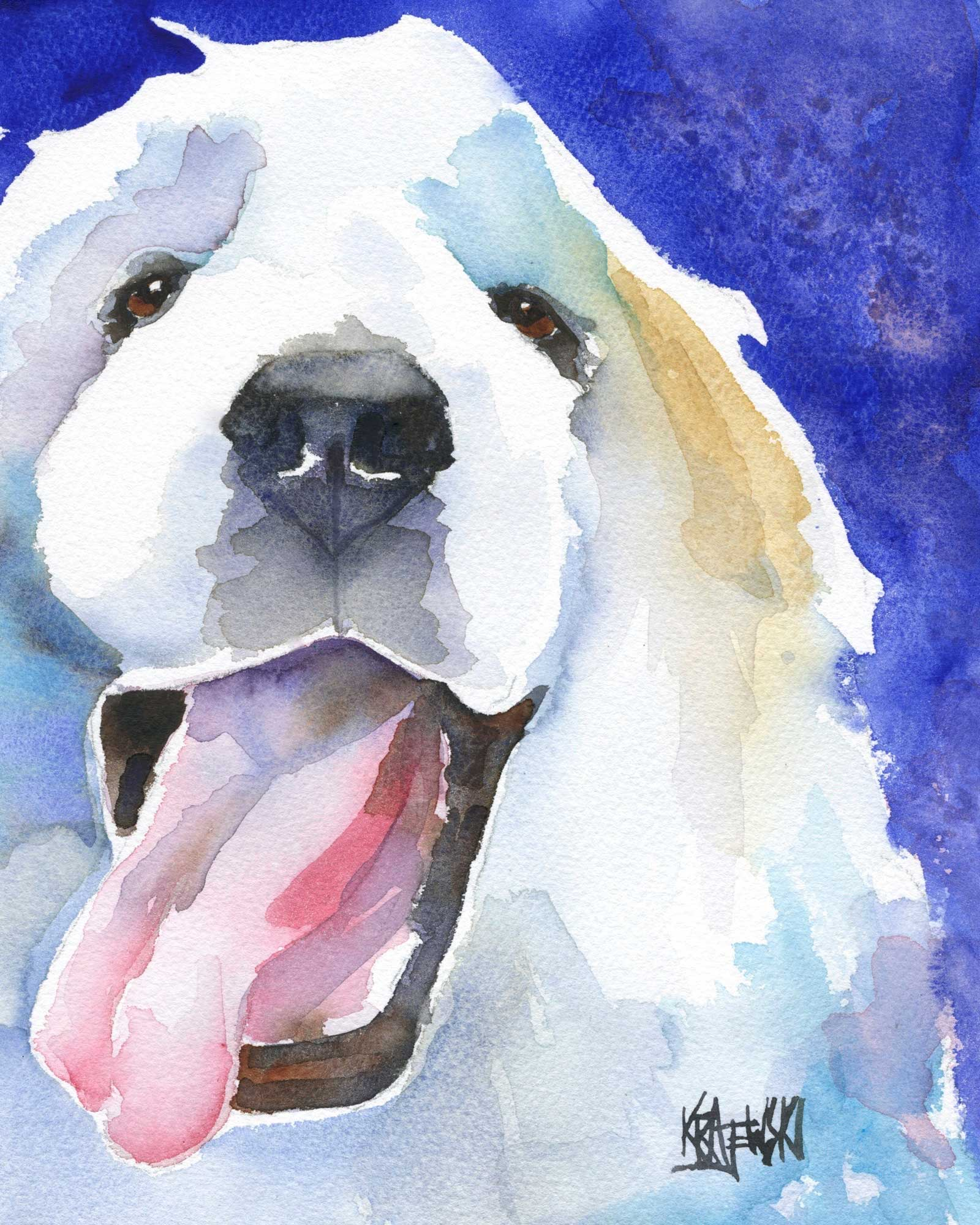 Great Pyrenees Art Print - Ron Krajewski Art