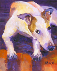 Greyhound Art Print - Ron Krajewski Art