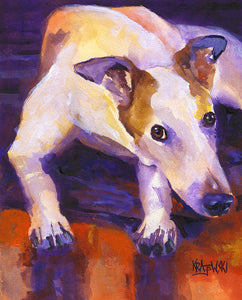 Greyhound Original Acrylic Painting - Ron Krajewski Art