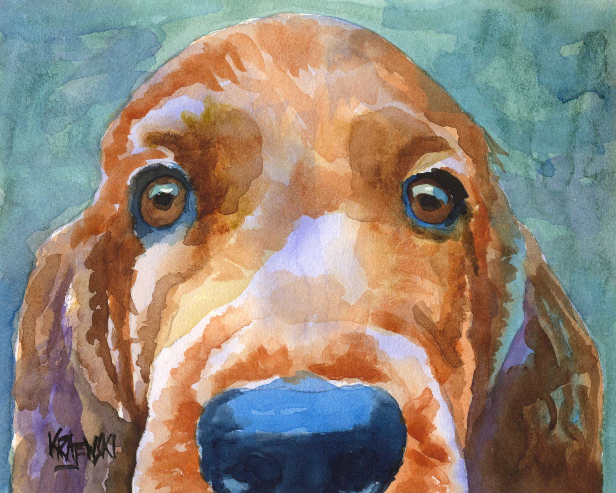 Irish Setter Art Print - Ron Krajewski Art