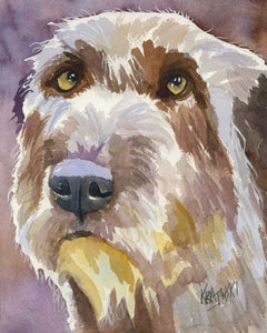 Irish Wolfhound Art Print - Ron Krajewski Art