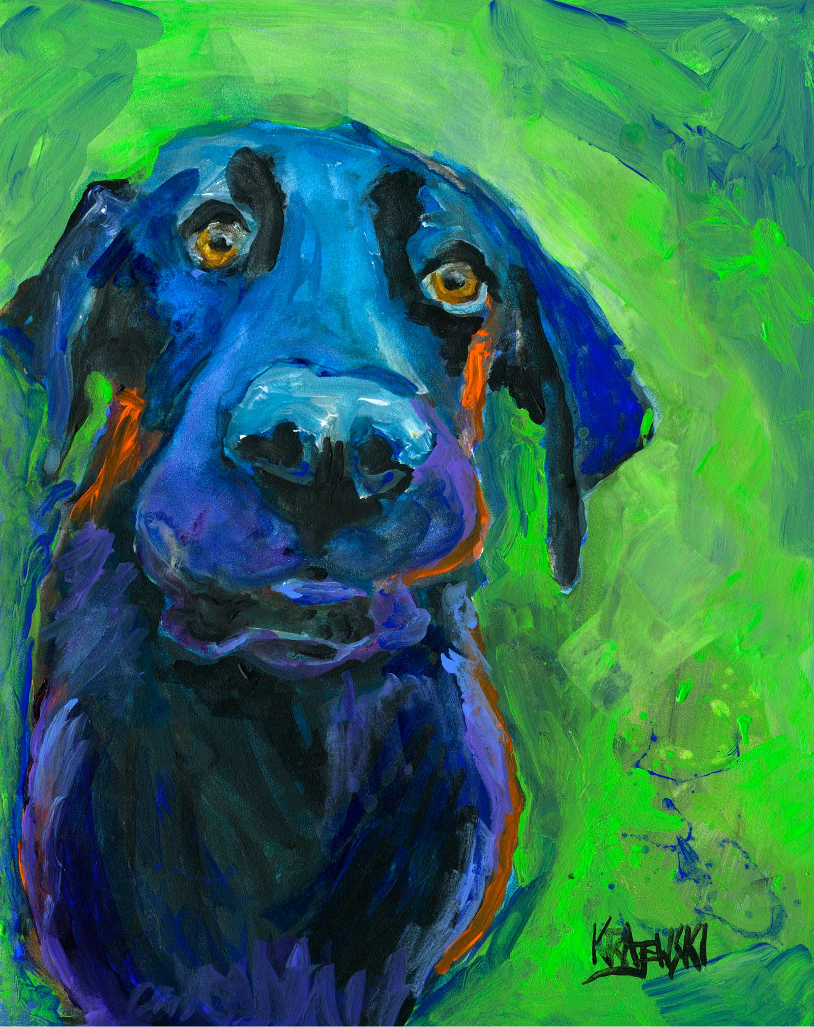 Labrador Retriever Art Print - Ron Krajewski Art