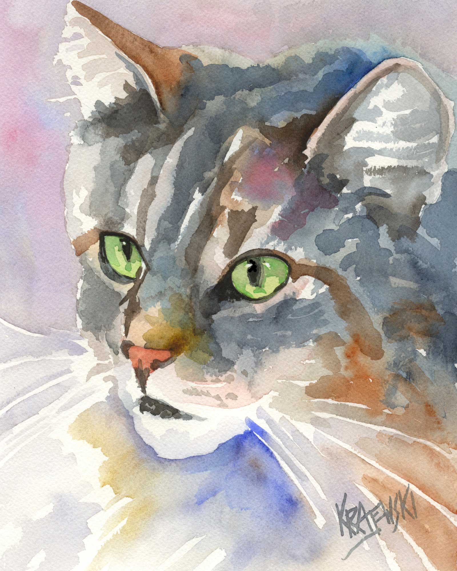 Maine Coon Cat 082505 - Ron Krajewski Art