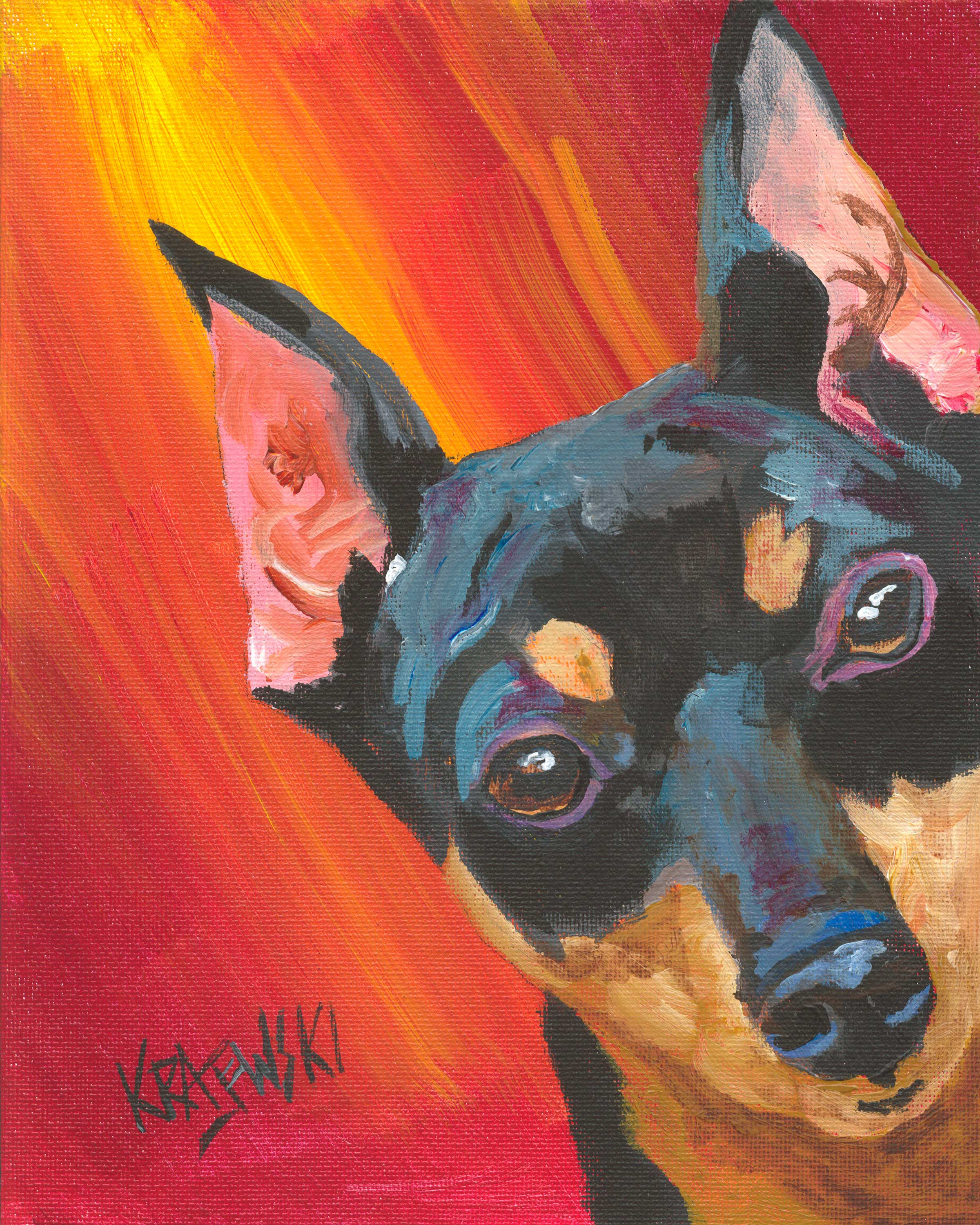 Miniature Pinscher 032605 - Ron Krajewski Art