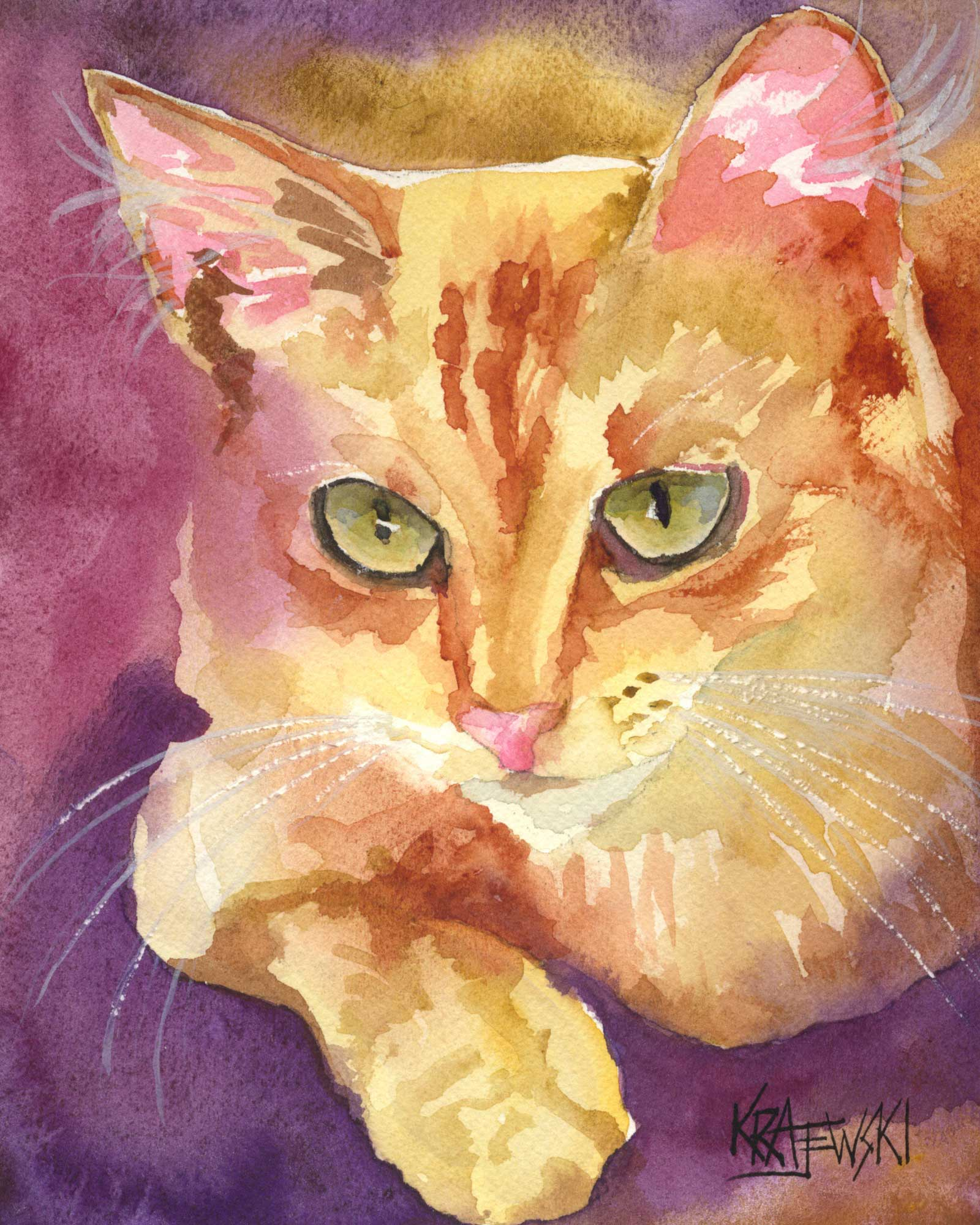 Orange Tabby Cat 030806 - Ron Krajewski Art