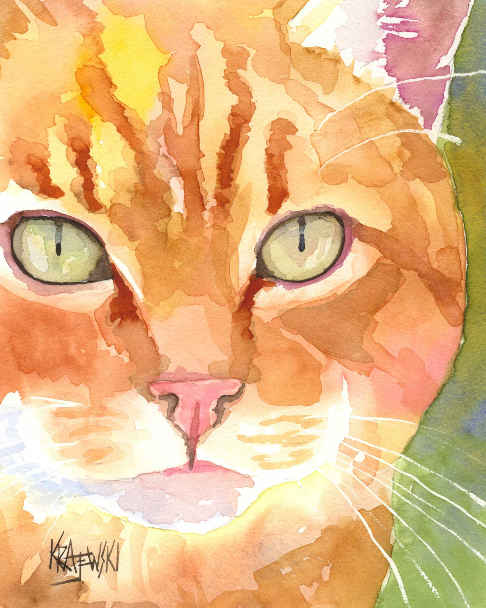 Orange Tabby Cat 041106 - Ron Krajewski Art