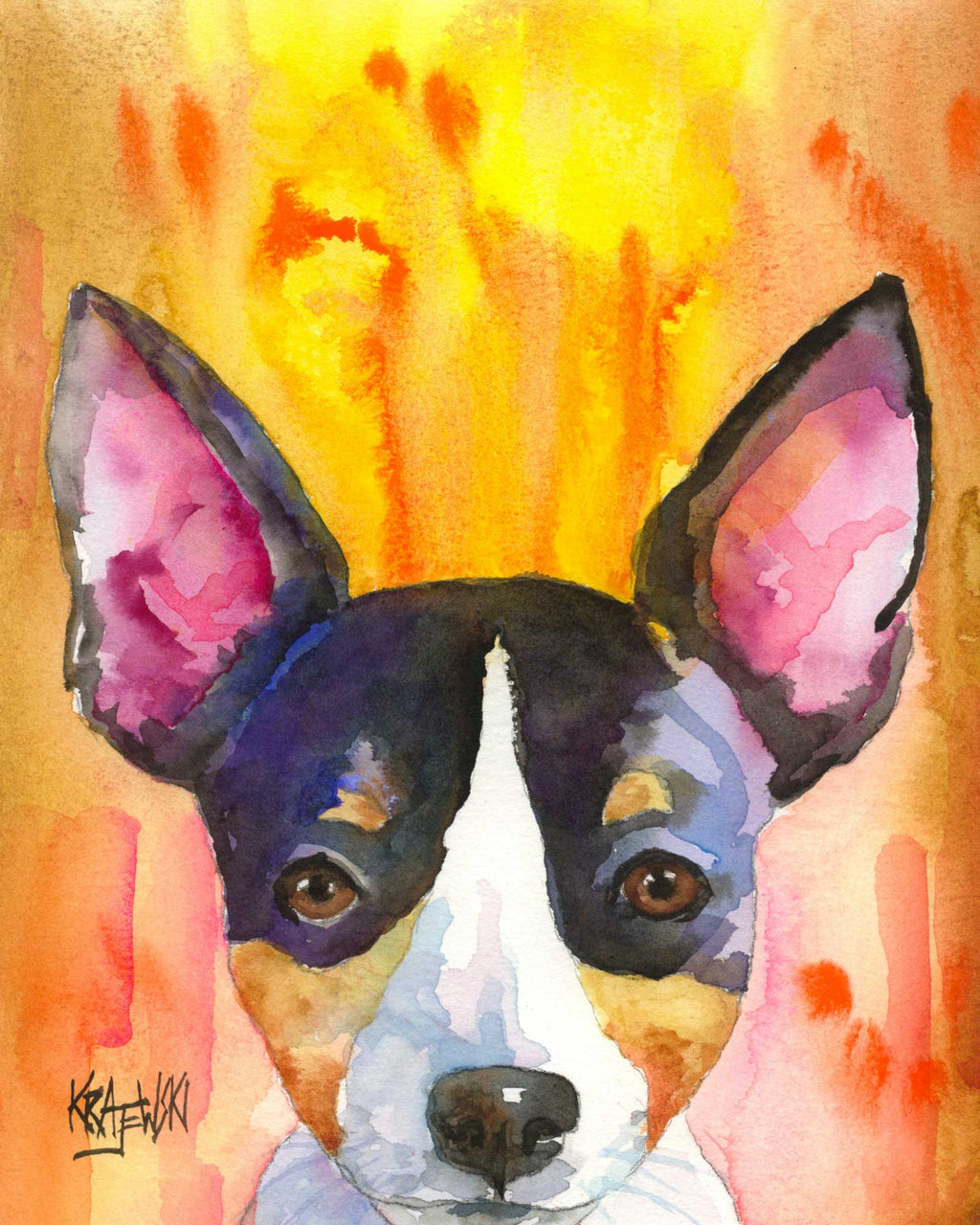 Rat Terrier  0916006 - Ron Krajewski Art