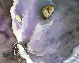 Russian Blue Cat 092105 - Ron Krajewski Art