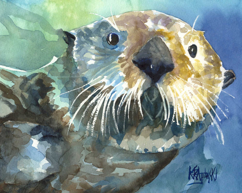 Sea Otter 080906 - Ron Krajewski Art