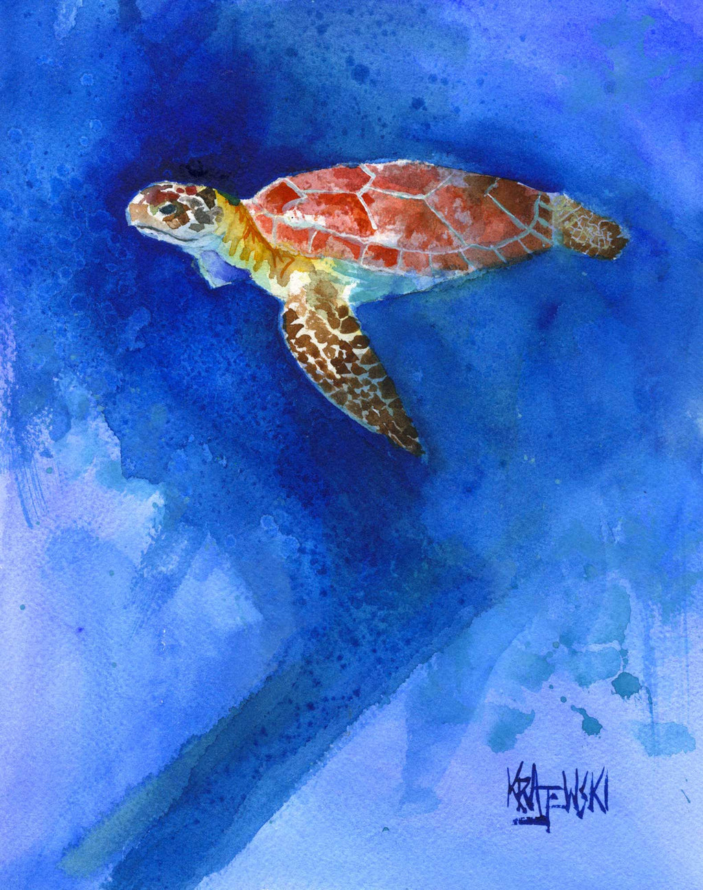 Sea Turtle 080611 - Ron Krajewski Art