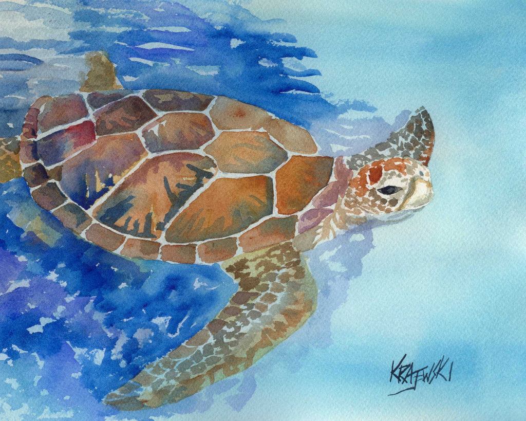 Sea Turtle 070705 - Ron Krajewski Art