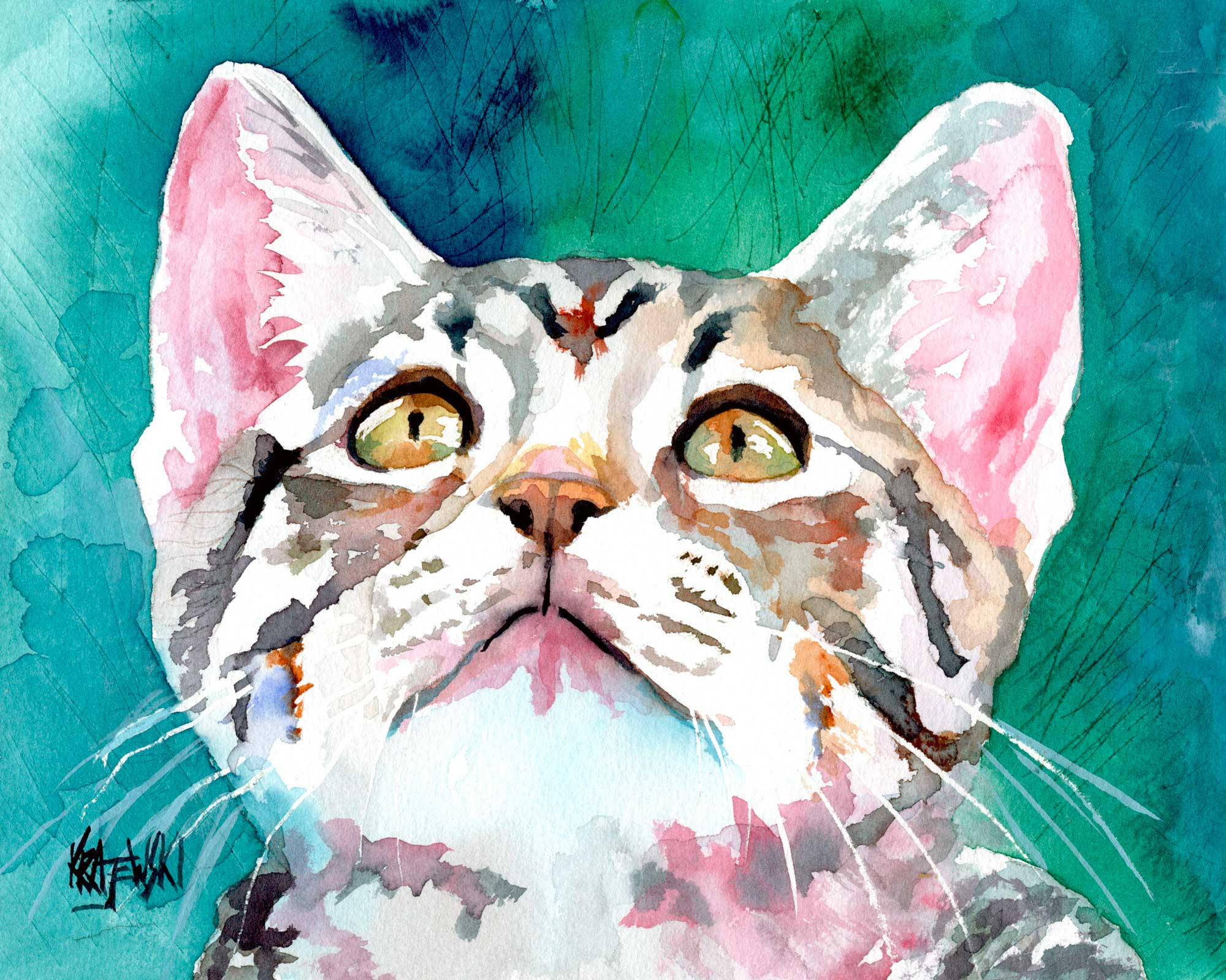 Tabby Cat 020307 - Ron Krajewski Art