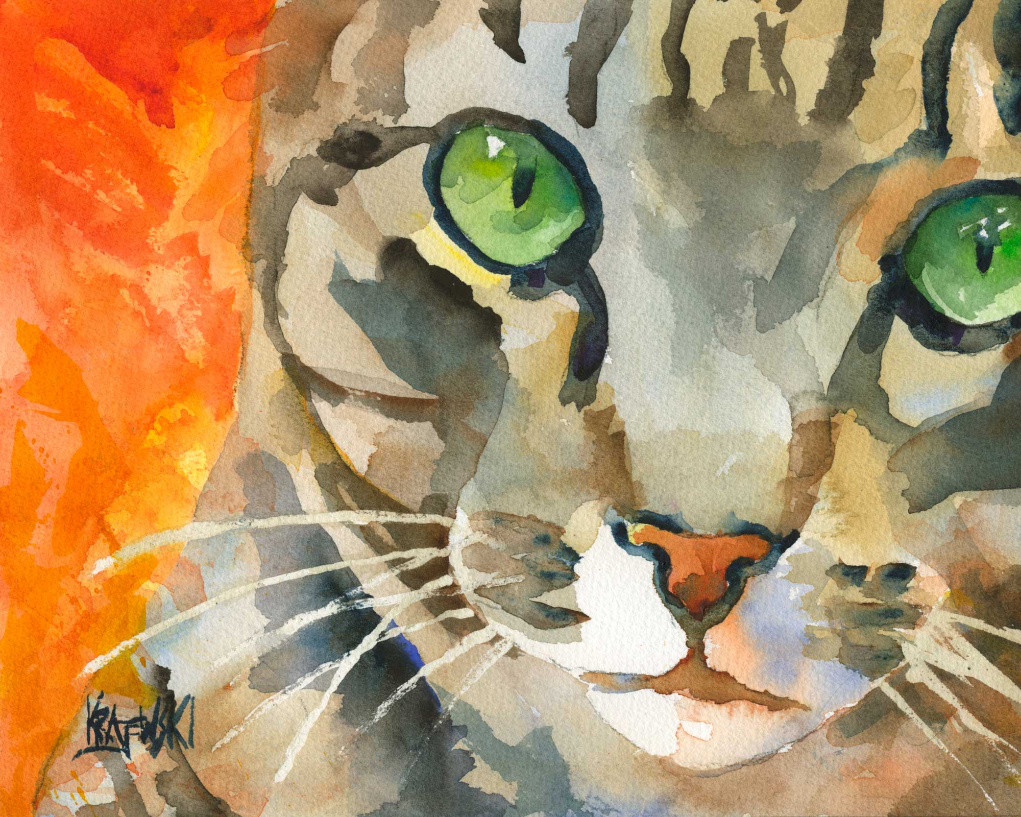 Tabby Cat 061508 - Ron Krajewski Art