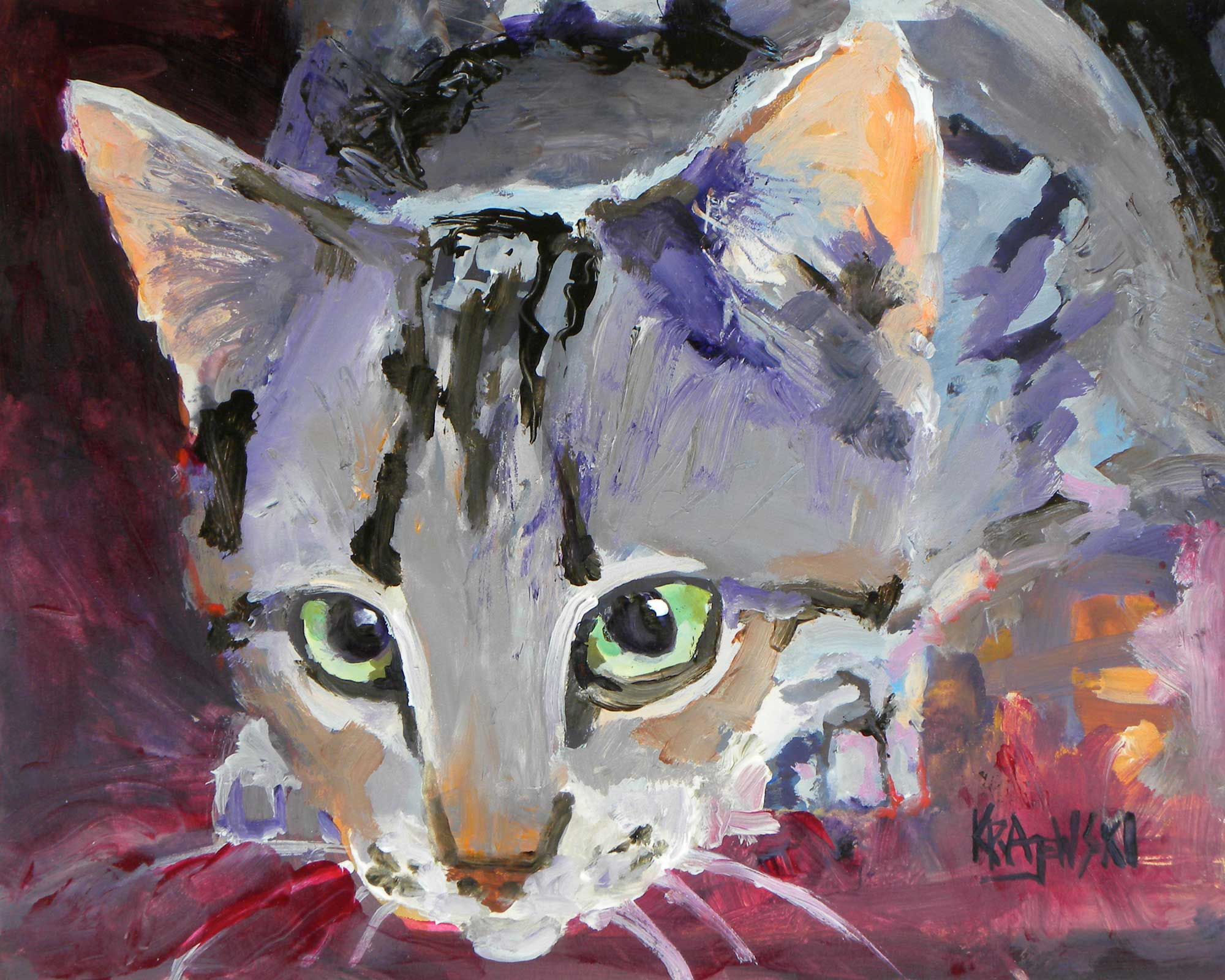 Tabby Cat 082310 - Ron Krajewski Art