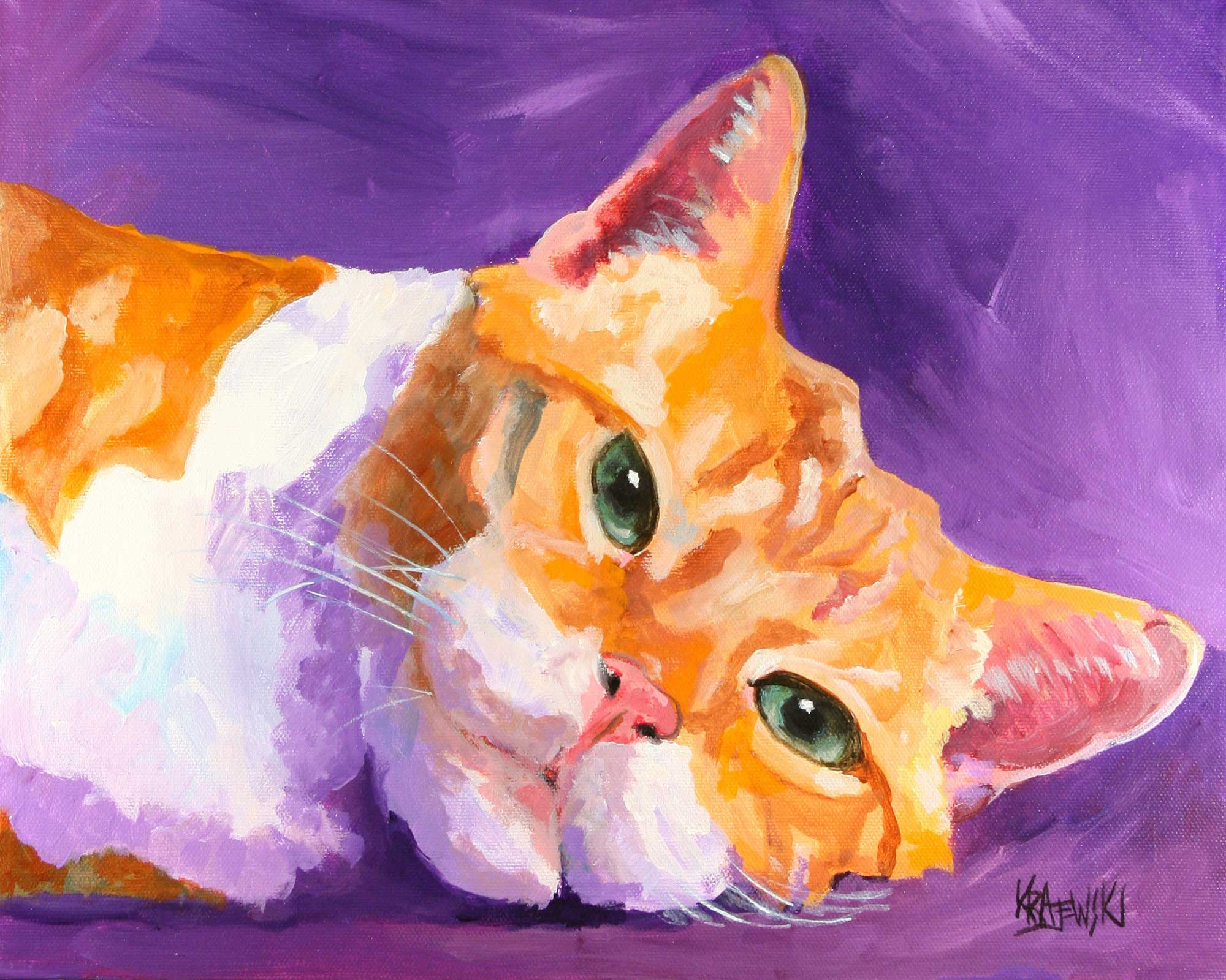Tabby Cat 092507 - Ron Krajewski Art