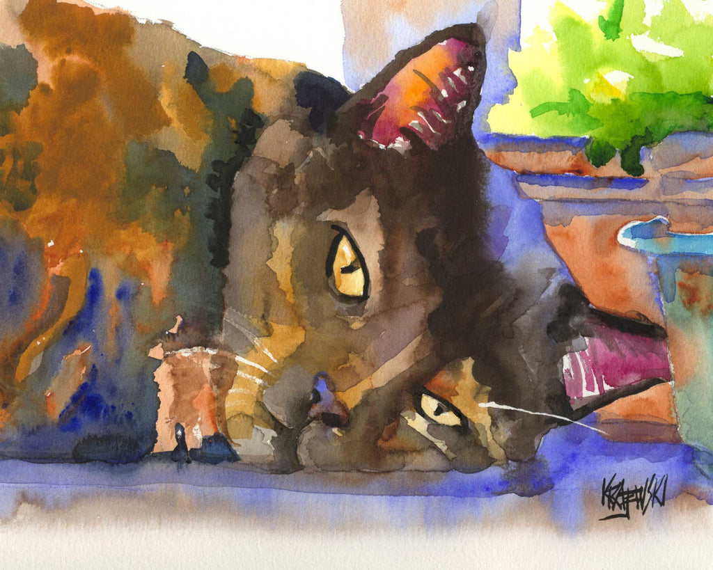 Tortie Cat 050406 - Ron Krajewski Art