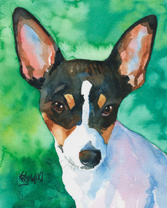 Toy Fox Terrier 050407 - Ron Krajewski Art