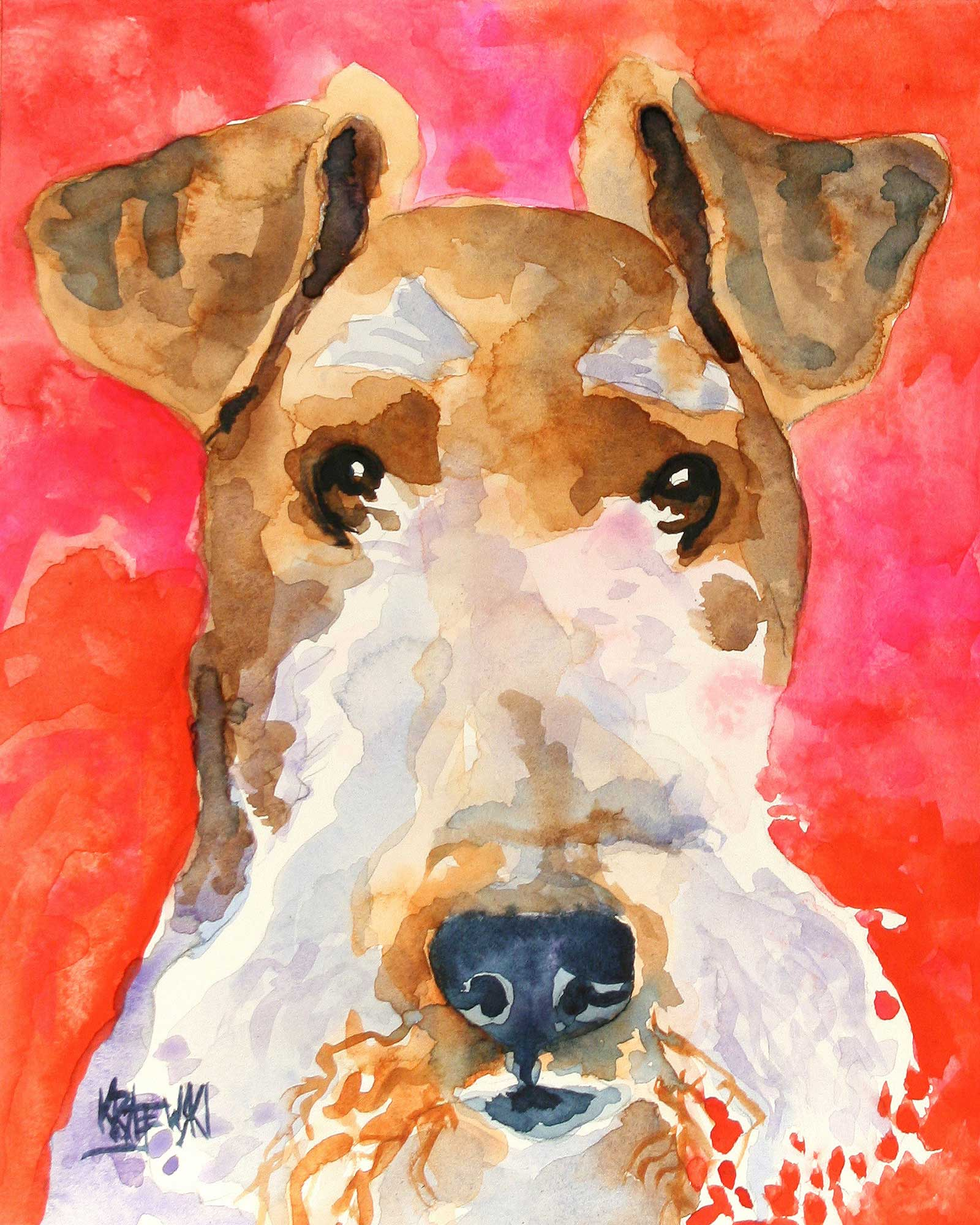 Wire Fox Terrier 101507 - Ron Krajewski Art