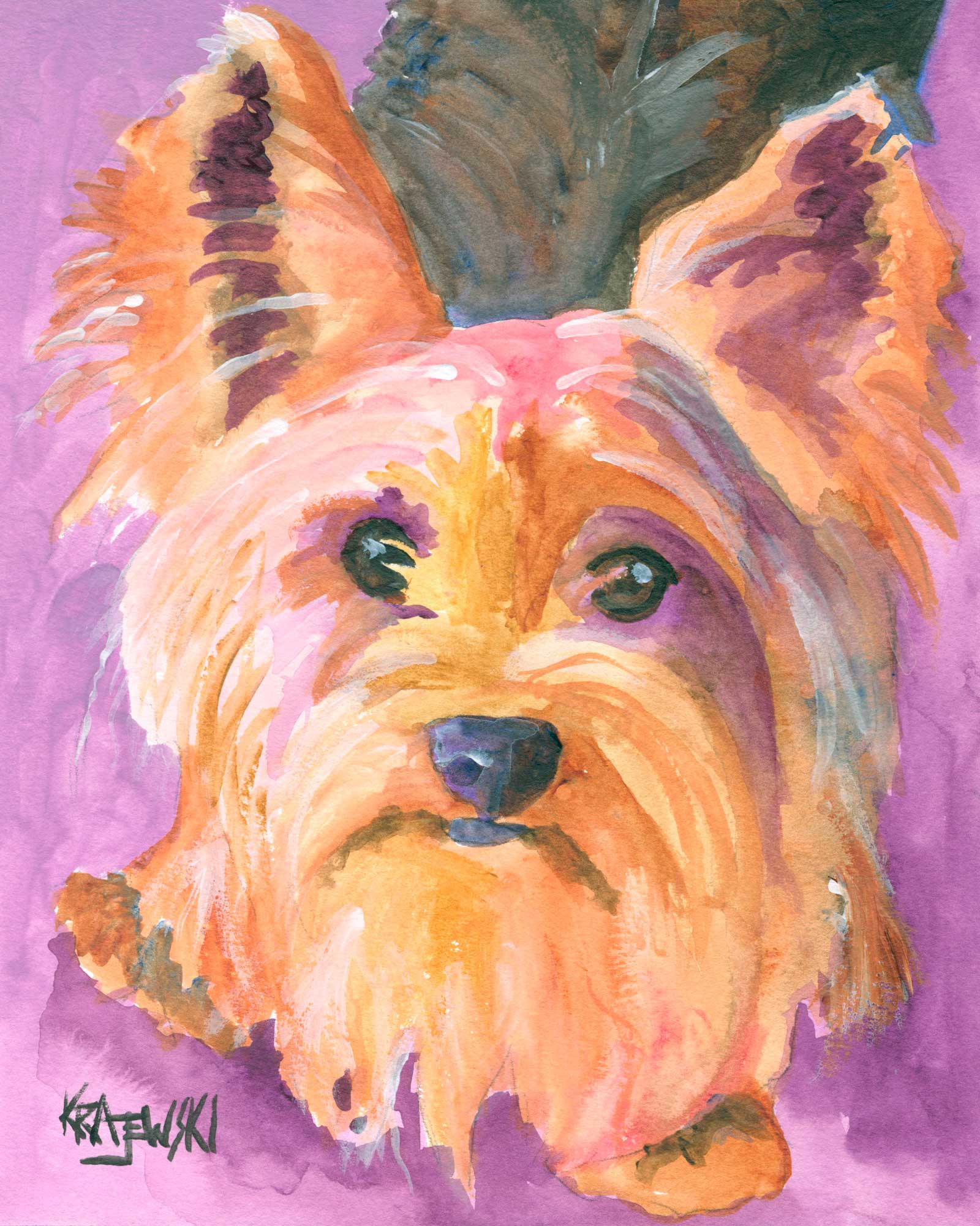 Yorkshire Terrier 122306 - Ron Krajewski Art