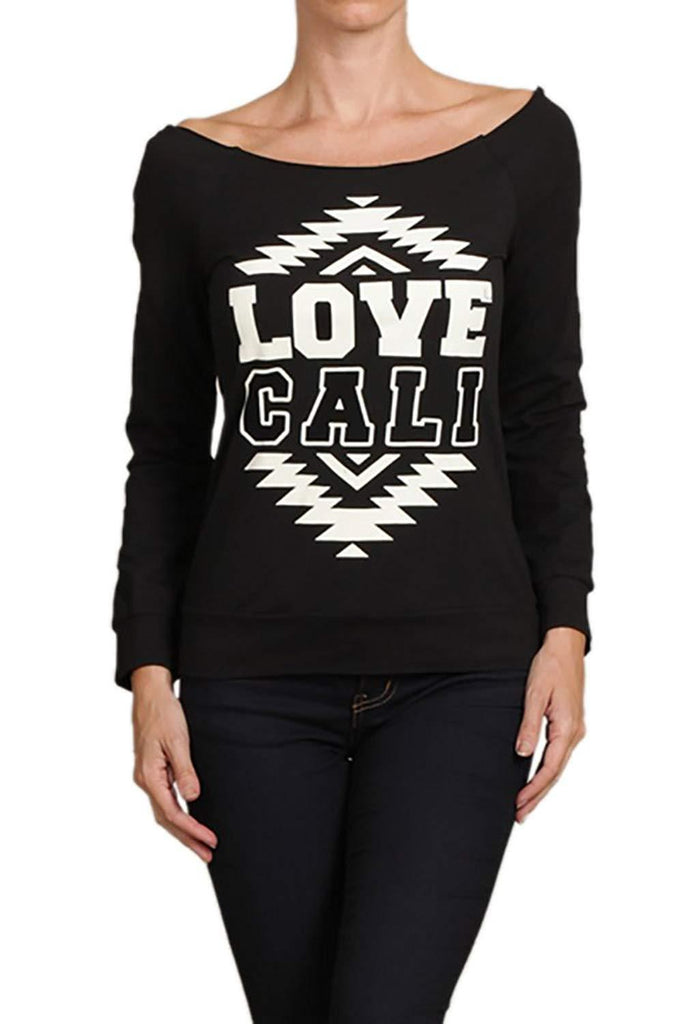 """Love Cali"" Cold Shoulder Top"