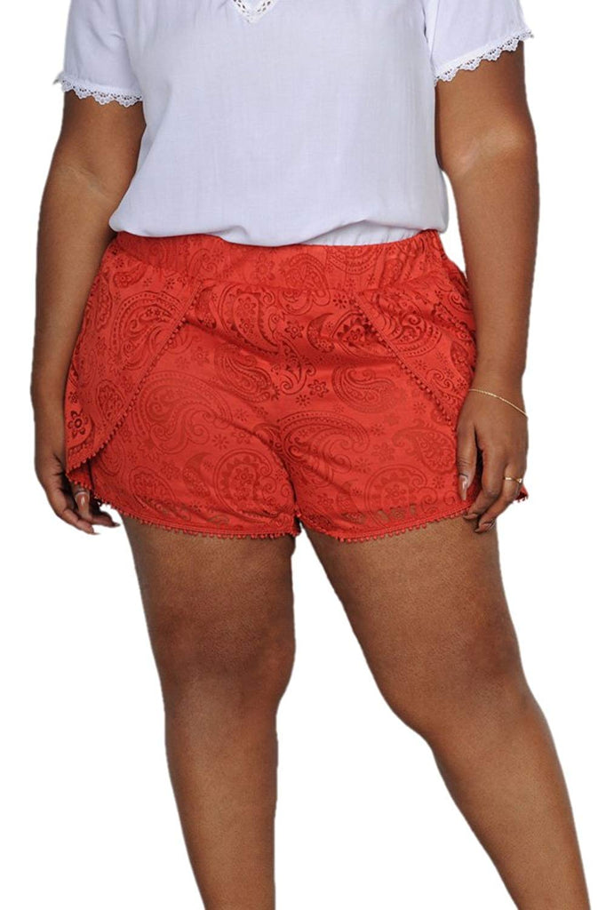 Plus Size Lace Shorts