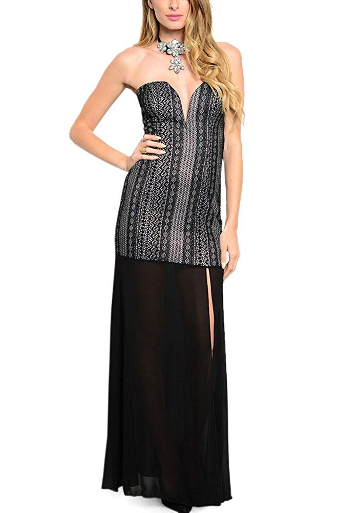 Sweetheart Lace Maxi Dress