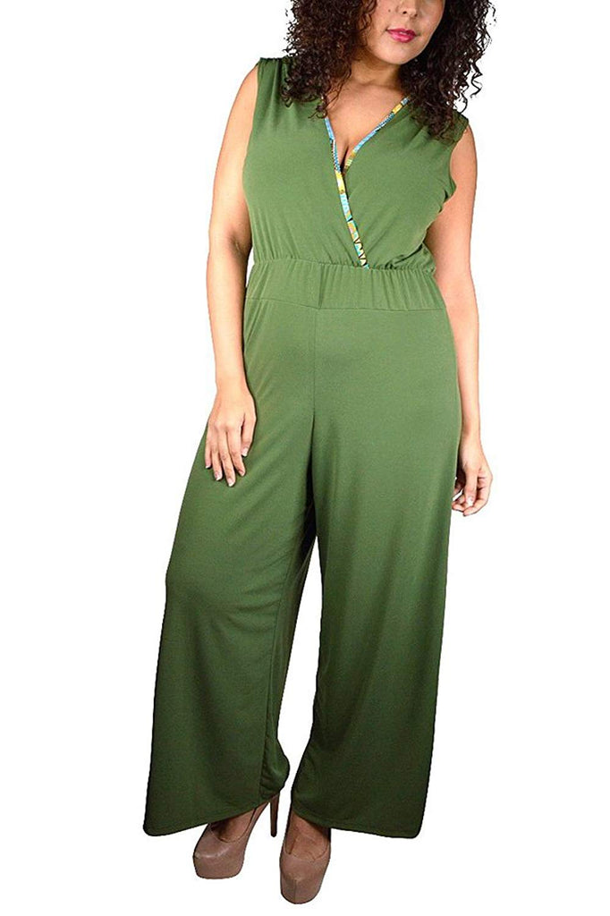 Plus Size Tank Jumpsuit