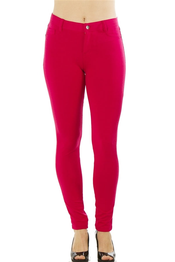 Stretchy Pants in Hot Pink