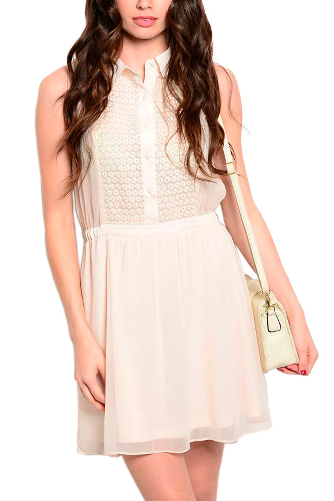 Sleeveless Sundress in Beige