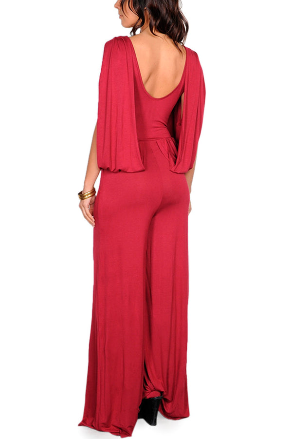 Low Back Jumpsuit in Red