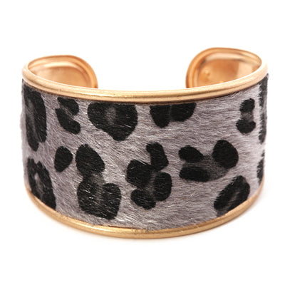 Leopard Print Wide Cuff Bangle