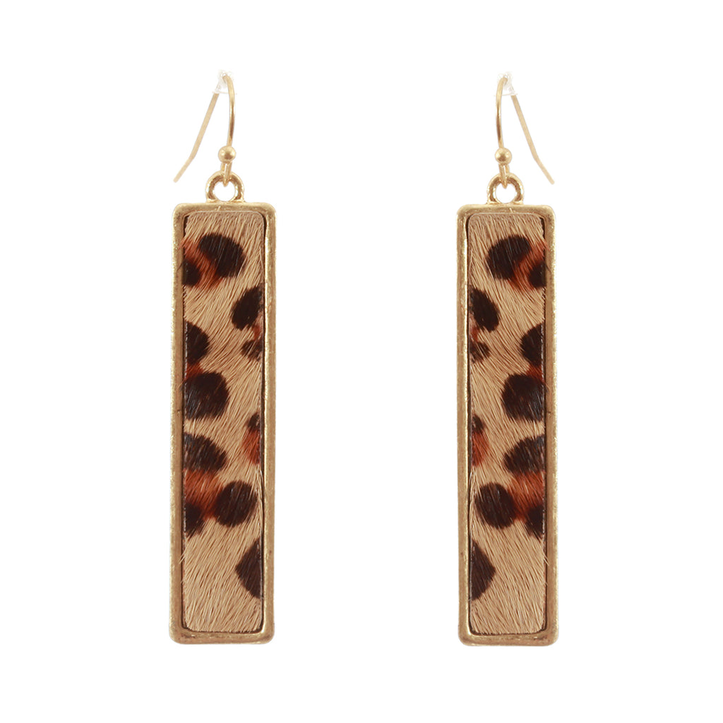 Rectangular Print Earrings