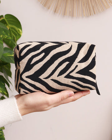 Clare Cosmetic Bag - Zebra