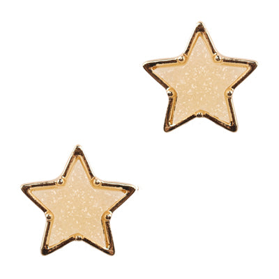 Druzy Star Stud Earrings
