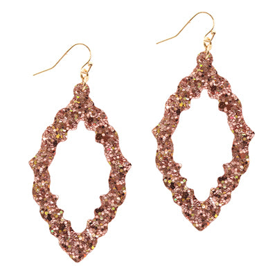 Lightweight Glitter Open Earrings