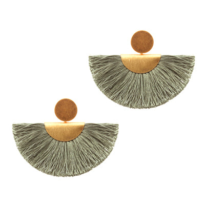 Stylish Stud Fan Earrings