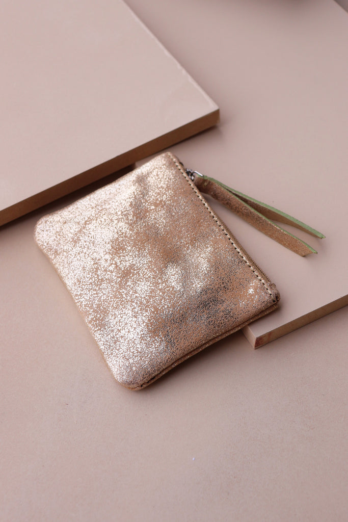 Coin Purse - Gold / Taupe