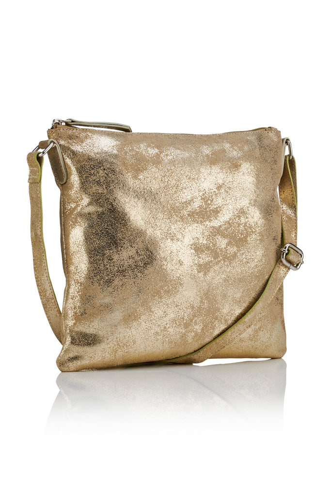 Large Crossbody Bag - Gold / Taupe