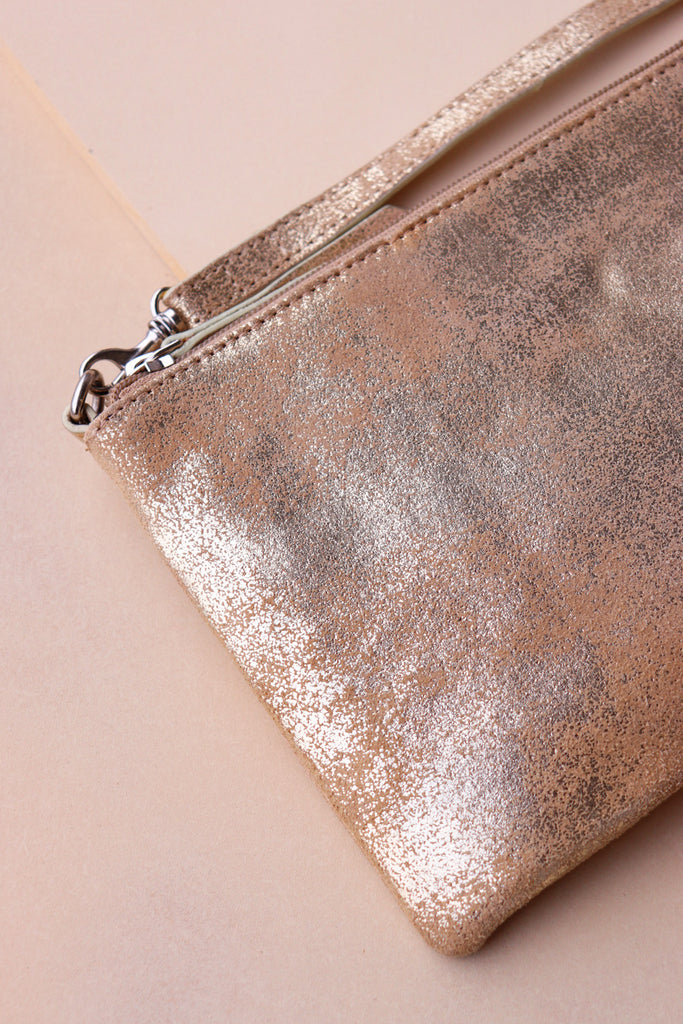 Small Crossbody Bag - Gold / Taupe