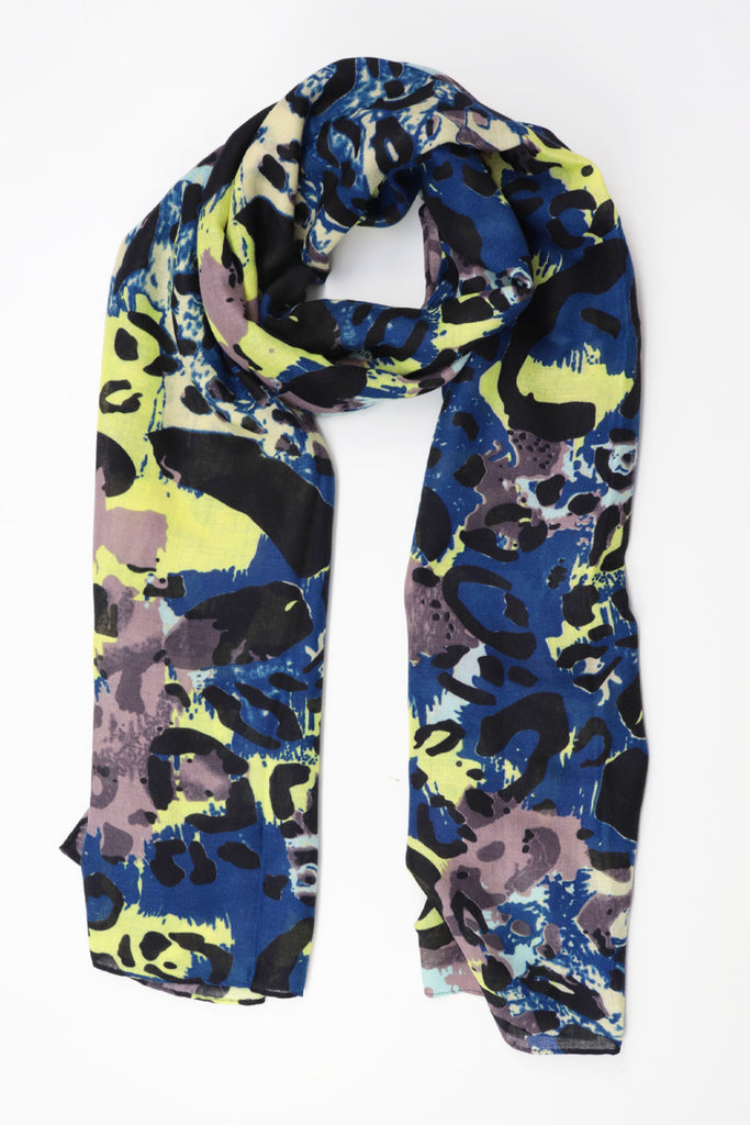 Abstract Camouflage Scarf - Navy