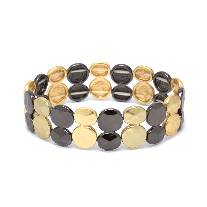 Smooth Double Button Stretch Bracelet