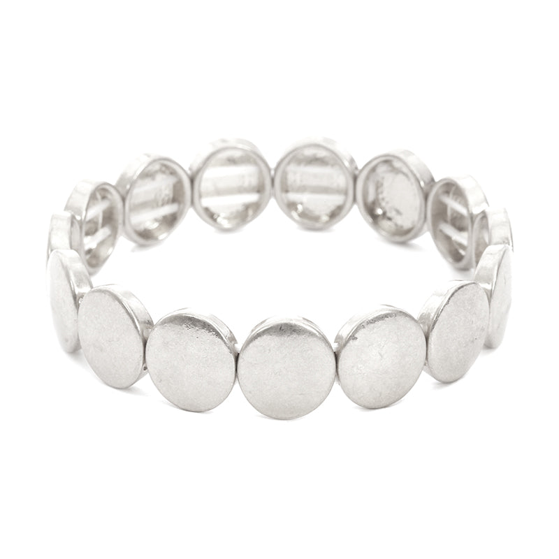 Smooth Button Stretch Bracelet