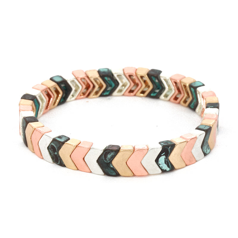 Aztec Thin Stretch Bracelet